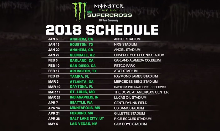 ama monster energy 2018 kalendar, mini cross, ycf, pit bike, szkola motocrossu